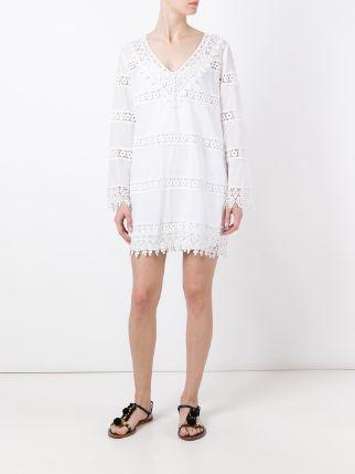 tory burch vestido front white