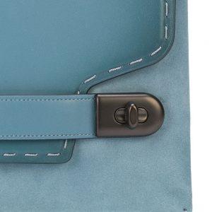 Bolso coach azul details