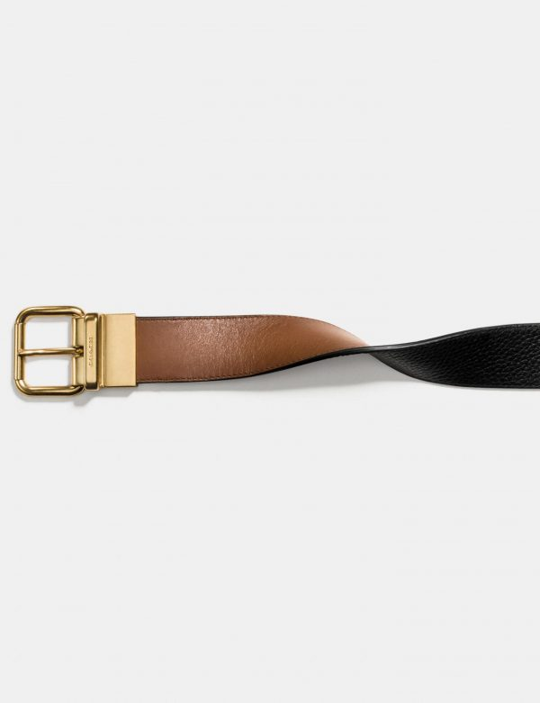 cinturon-coach-marron detail