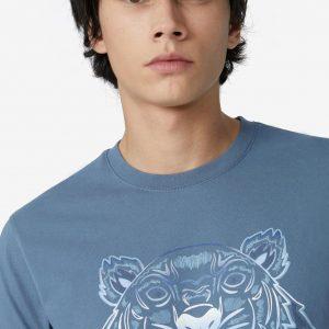 camiseta azul hombre kenzo FB55TS0264YG dolcevitaboutique.