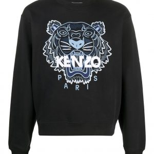 kenzo tiger classic sweatshirt fb55sw1104xa 99 negro dolcevitaboutique