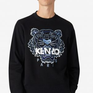 kenzo tiger classic sweatshirt fb55sw1104xa 99 negro dolcevitaboutique.