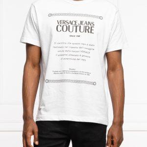 camiseta blanca hombre logo verssce 71GAHT02CJ00T dolcevitaboutique