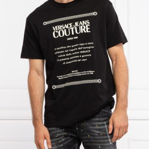camiseta negra logo hombre versace 71GAHT02CJ00T dolcevitaboutique
