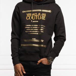 sudadera negra capucha logo bordado versace 71GAIT10CF00T dolcevitaboutique.